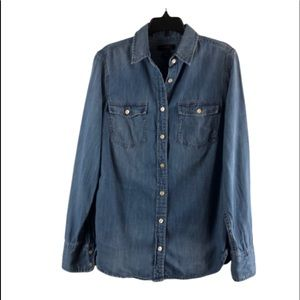 J Crew button down western style chambray in shirt